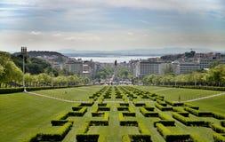 Lisbon city park. Parque Eduardo VII in Lisboa, Portugal Stock Images