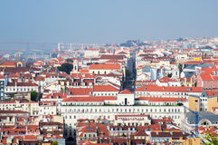 Lisbon city, Portugal. Aereal view on sunny day Royalty Free Stock Photography