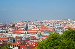 Lisbon city, Portugal. Aereal view on sunny day Royalty Free Stock Image