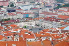 Lisbon city, Portugal. Aereal view on sunny day from San Jorge Castle Royalty Free Stock Photography