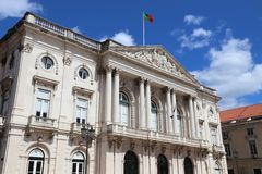 Lisbon City Hall. Lisbon city in Portugal. City Hall - local government stock photography