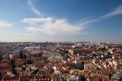 Lisbon city view. The picture of Lisbon, capital of Portugal from one of the observation place Royalty Free Stock Images