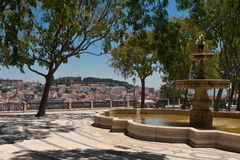 Lisbon City View Cityscape Stock Photography