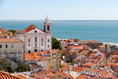 Lisbon cityscape of Alfama Royalty Free Stock Photography