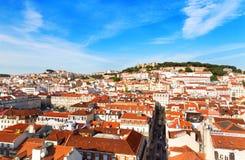 Lisbon cityscape Royalty Free Stock Images