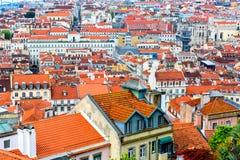 Lisbon cityscape Stock Photos