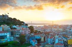 Lisbon cityscape, Portugal Stock Photos