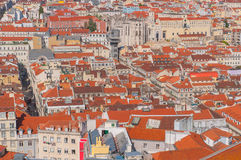 Lisbon cityscape, Portugal. Lisbon View From Saint George Castle, Portugal Stock Image