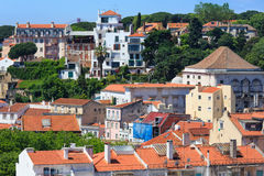 Lisbon cityscape from roof, Portugal. Stock Images