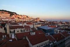 Lisbon cityscape during sunset Stock Image