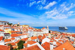 Lisbon cityscape. View of  the Alfama downtown Stock Photo
