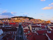 Lisbon Cityscape Royalty Free Stock Images