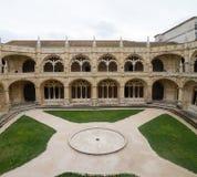 Lisbon, the cloister of the Monastery Dos Jeronimos Royalty Free Stock Photos