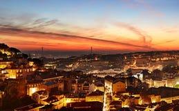 Lisbon colorful cityscape, Portugal Stock Photo