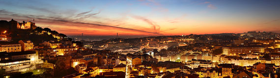 Lisbon colorful skyline, Portugal Royalty Free Stock Image