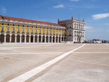 Lisbon commerce square Royalty Free Stock Photography