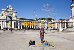 Lisbon Commerce Square Royalty Free Stock Images