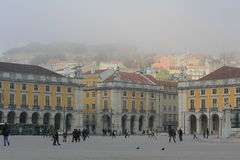 Lisbon, Commerce Square Stock Photography