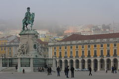 Lisbon, Commerce Square Stock Image