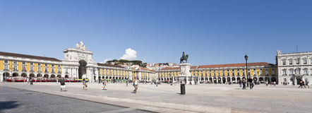 Lisbon Commerce Square Stock Images