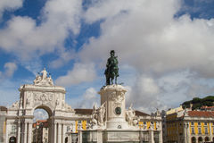 Lisbon Commerce Square Royalty Free Stock Photos