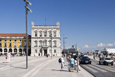 Lisbon Commerce Square Stock Photo