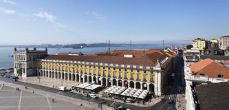 Lisbon Commerce Square Royalty Free Stock Photo