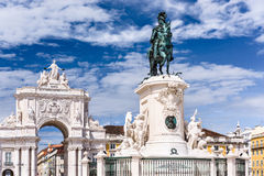 Lisbon Commercial Square Stock Image