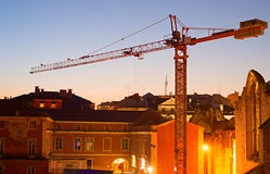 Lisbon construction Royalty Free Stock Images