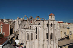 Lisbon Convento do Carmo Royalty Free Stock Images