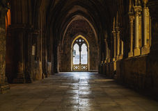 Lisbon CVathedral Cloister Royalty Free Stock Images