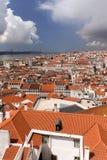 Lisbon dachy zdjęcie stock