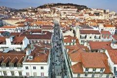 Lisbon dachy Zdjęcia Stock