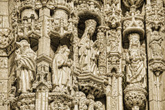 Lisbon - detail Jeronimos Monastery Royalty Free Stock Image