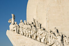 Lisbon. Detail from western side of the Discoveries Monument Royalty Free Stock Photos