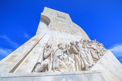 Lisbon Discoveries Monument. The Padrao dos Descobrimentos celebrates the Portuguese who took part in the Age of Discovery. The Discoveries Monument is a famous Royalty Free Stock Images