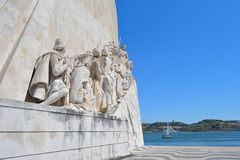 Lisbon Discovery, Portugal. Monumento dos Descobrimentos ( Monument to the Discoveries) is a monument on the the Tagus River in Lisbon, Portugal. The monument stock image