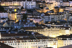 Lisbon district by night Stock Image