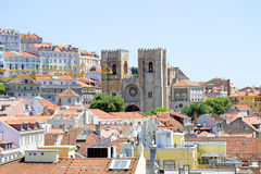 Lisbon downton old city  in Portugal Royalty Free Stock Photography