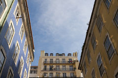Lisbon downtown royalty free stock photos