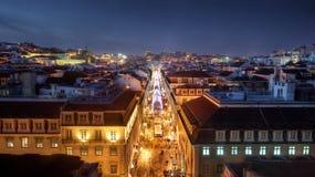 Lisbon Downtown Stock Photo