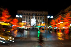 Lisbon downtown during Christmas Royalty Free Stock Photos