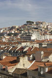 Lisbon downtown overview from the top Royalty Free Stock Image