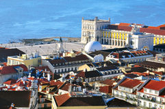 Lisbon downtown Stock Photography