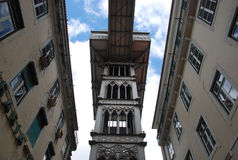 Lisbon elevator. Typical elevator in Lisbon, Portugal royalty free stock images