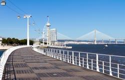 lisbon för 98 expo walkway royaltyfria foton