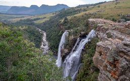 The Lisbon Falls: double waterfalls in the Blyde River Canyon, Panorama Route near Graskop, Mpumalanga, South Africa. stock photo