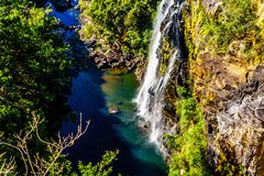 Lisbon Falls near God`s Window on the Panorama Route royalty free stock image