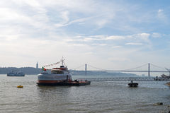 Lisbon Ferry boats Royalty Free Stock Image