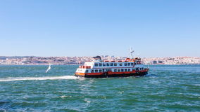 Lisbon ferry, known as a Cacilheiro Royalty Free Stock Images